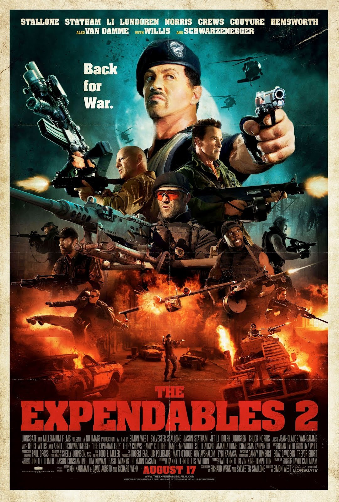 The Expendables 2 Comic Con Poster