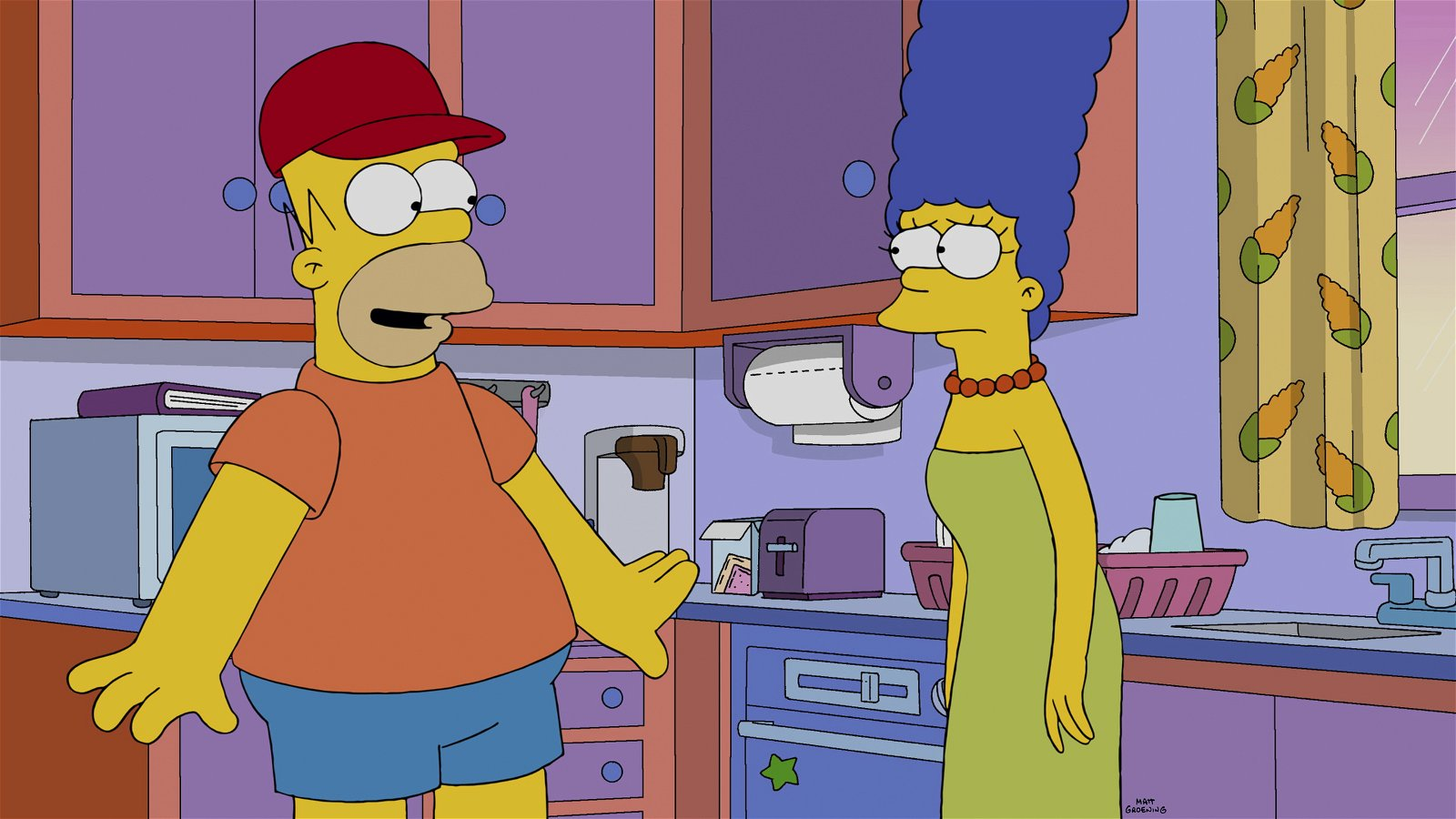 "THE SIMPSONS: Marge must adapt to a new Homer after he is hypnotized at the circus and believes he is a young boy again in the all-new ""Bart's New Friend"" episode of THE SIMPSONS airing Sunday, Jan. 11 (8:00-8:30 PM ET/PT) on FOX. THE SIMPSONS ª and © 2014 TCFFC ALL RIGHTS RESERVED."