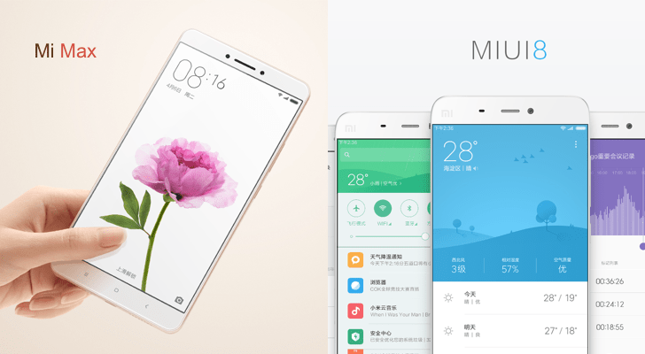 Chinese Phone Company Xiaomi Announces MIUI 8 And Mi Max