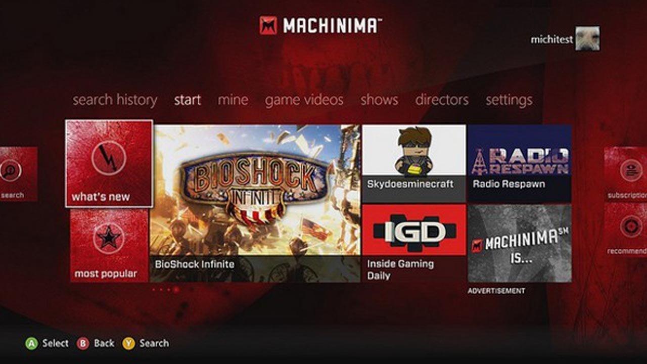 Xbox 360 Machinima App Launches Worldwide 1