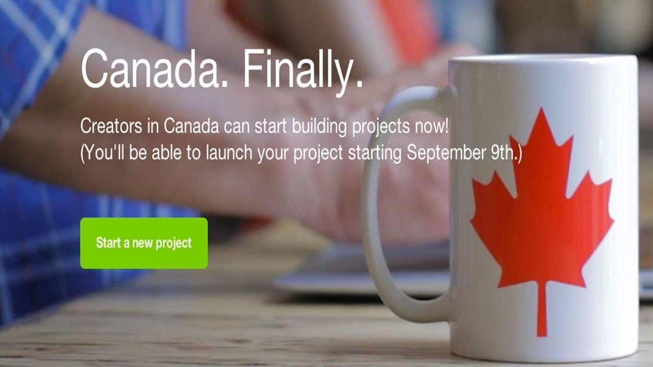 Kickstarter Available to Canadians on September 9