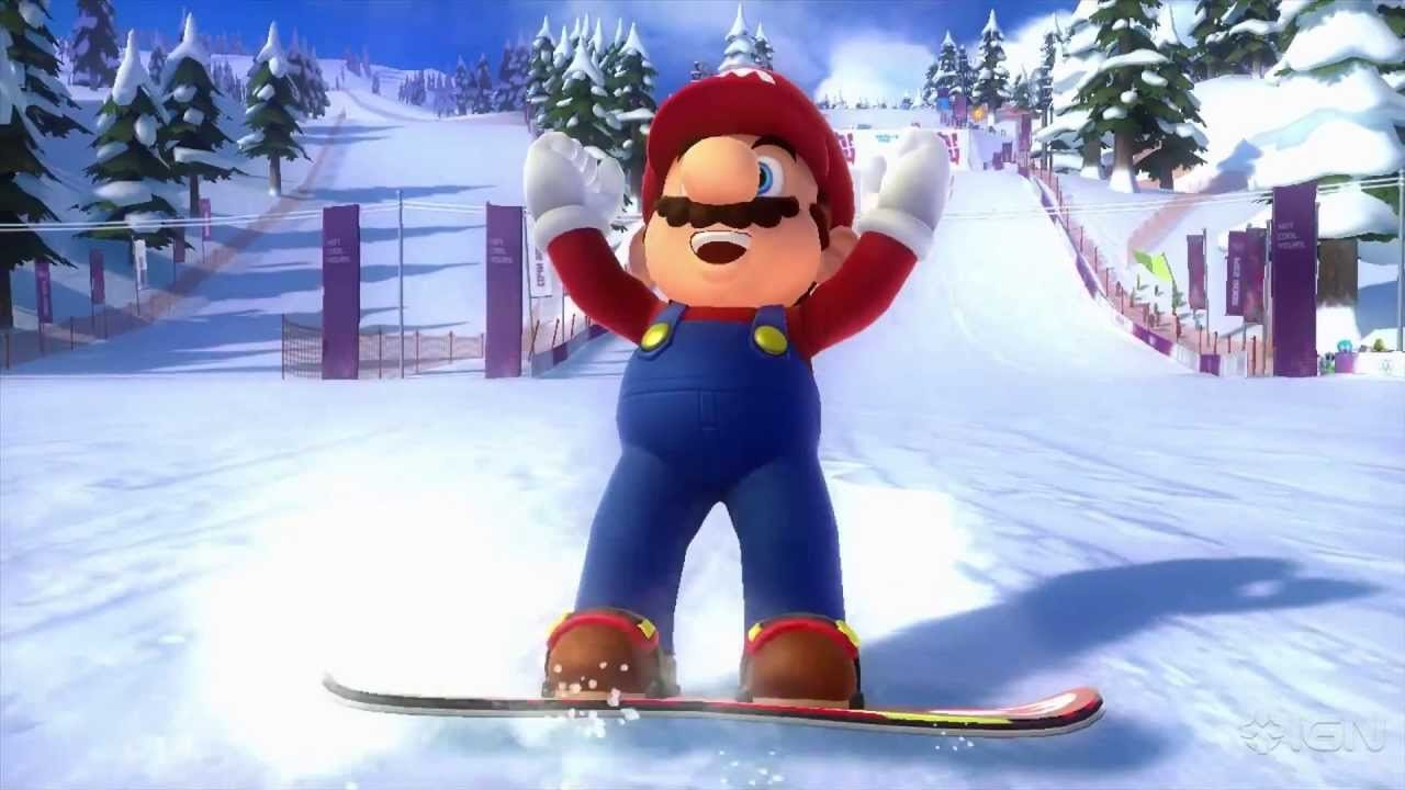 Mario & Sonic At The Olympic Winter Games Sochi 2014  (Wii U) Review 1