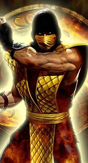 Scorpion's old school costume from Mortal Kombat (2011.)