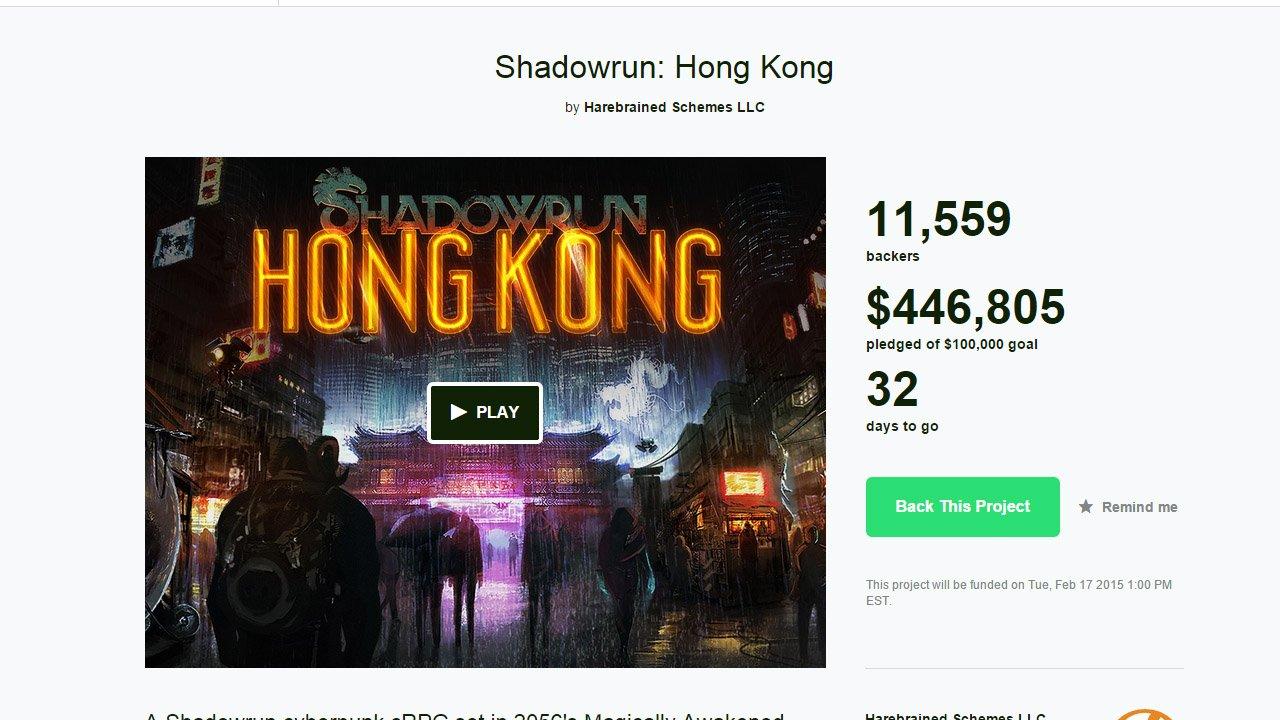 Shadowrun: Hong Kong Kickstarter Already Funded