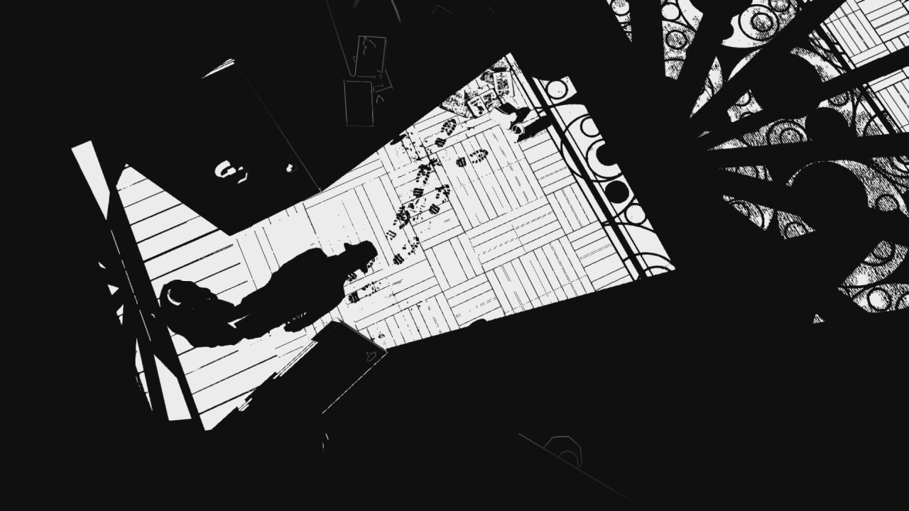 Noir Style Amplifies the Horrific in White Night