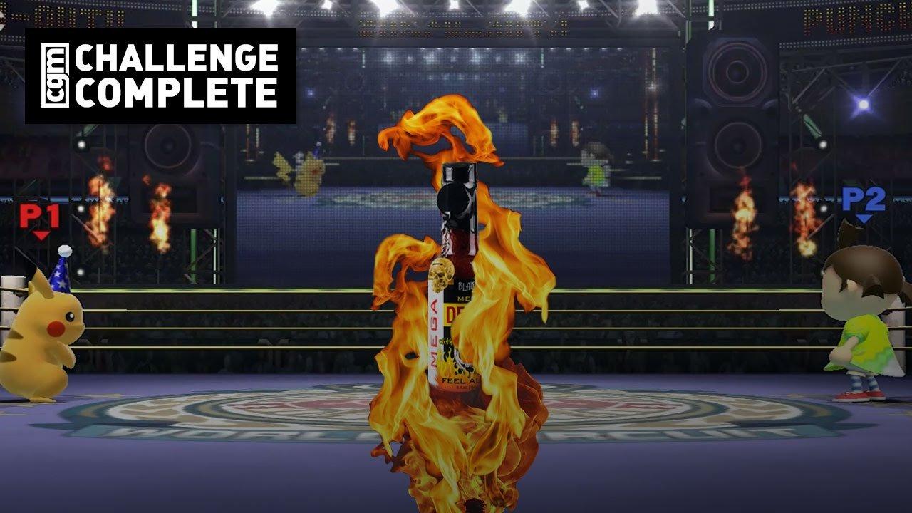 Challenge Complete: Super Smash Bros. Hot Sauce Challange