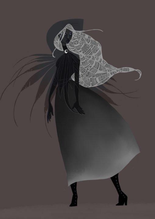 Moon Witch - Art By: Yifat Shaik
