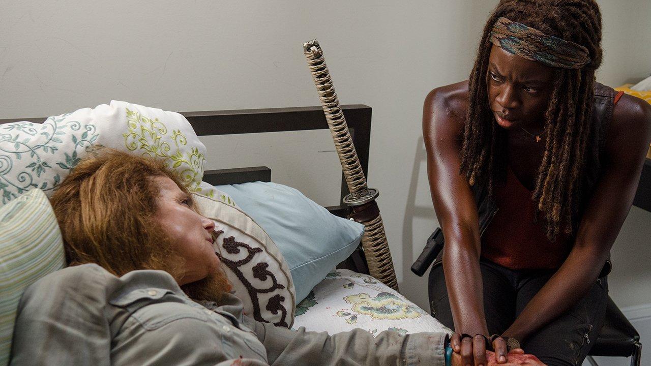 Tovah Feldshuh As Deanna And Danai Gurira As Michonne - The Walking Dead Season 6, Episode 8 - Photo Credit: Gene Page/Amc