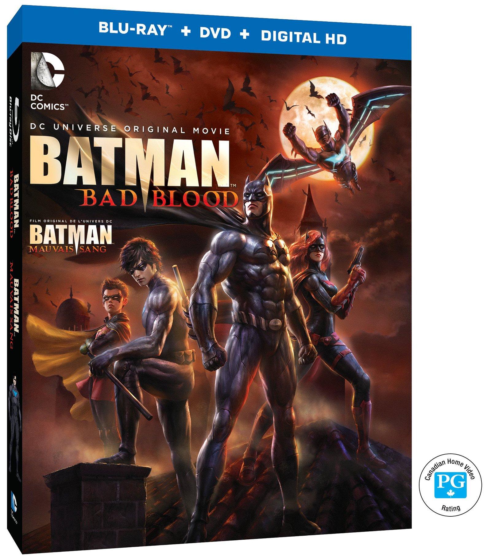 Batman Bad Blood Box Art Canada