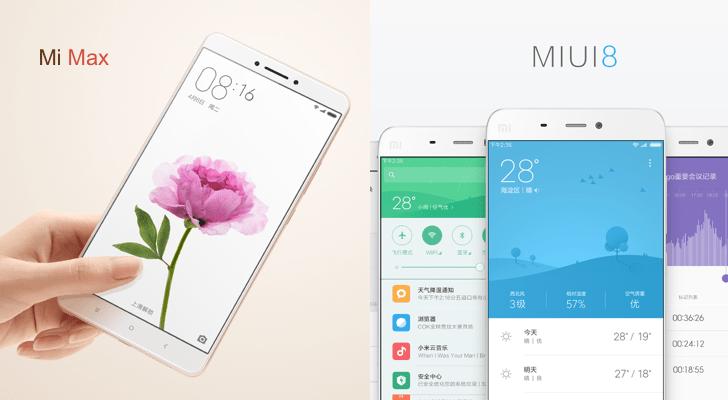 Chinese Phone Company Xiaomi Announces Miui 8 And Mi Max