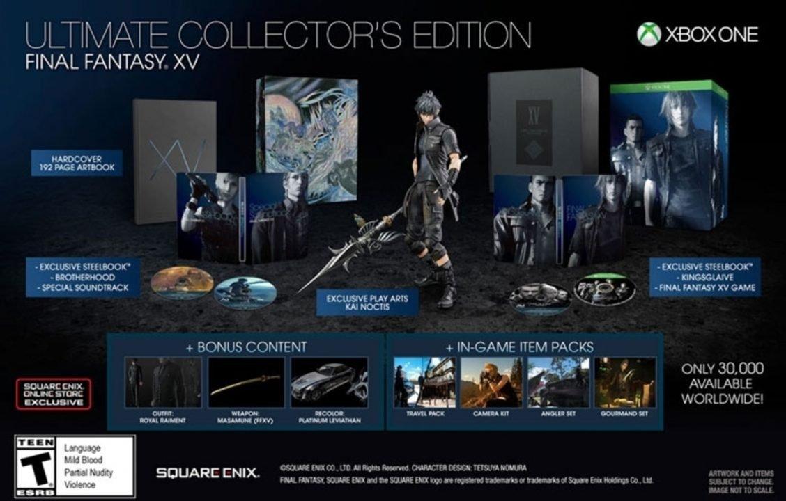 Final Fantasy XV Ultimate Collector's Edition Foregoes Season Pass