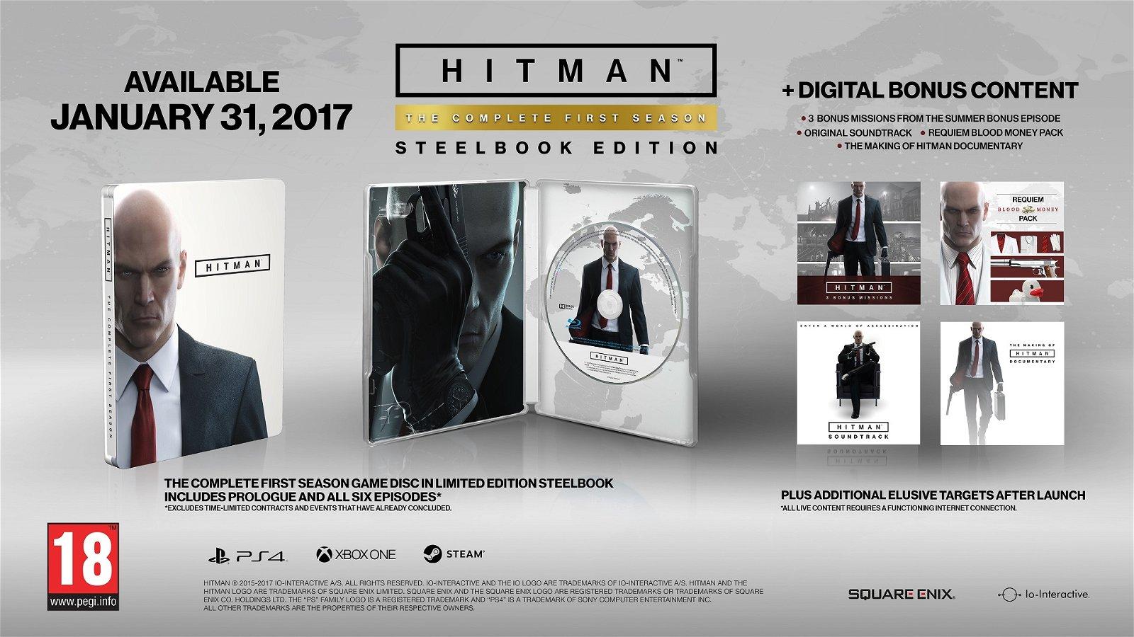 Hitman's Full Season Coming to Retail in January