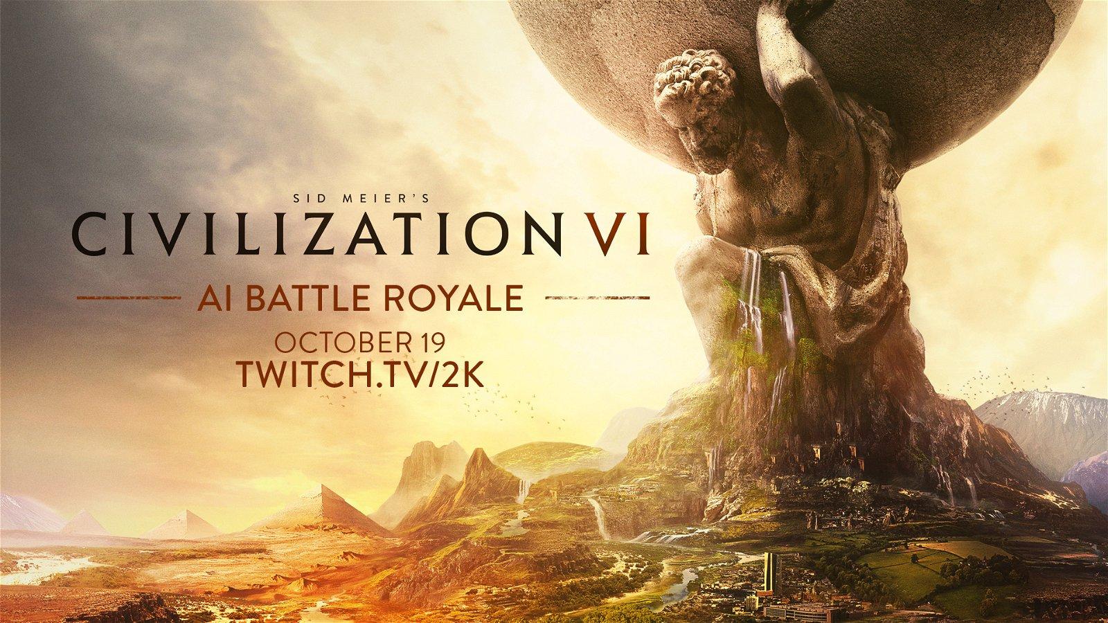 Civilization VI to Host Official AI Battle Royale via Twitch
