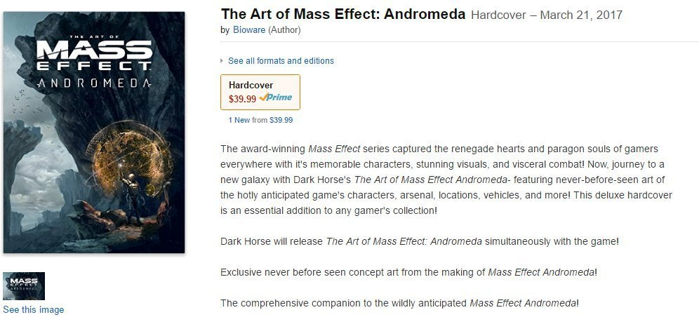 Mass Effect: Andromeda's Release Date May Have Been Leaked