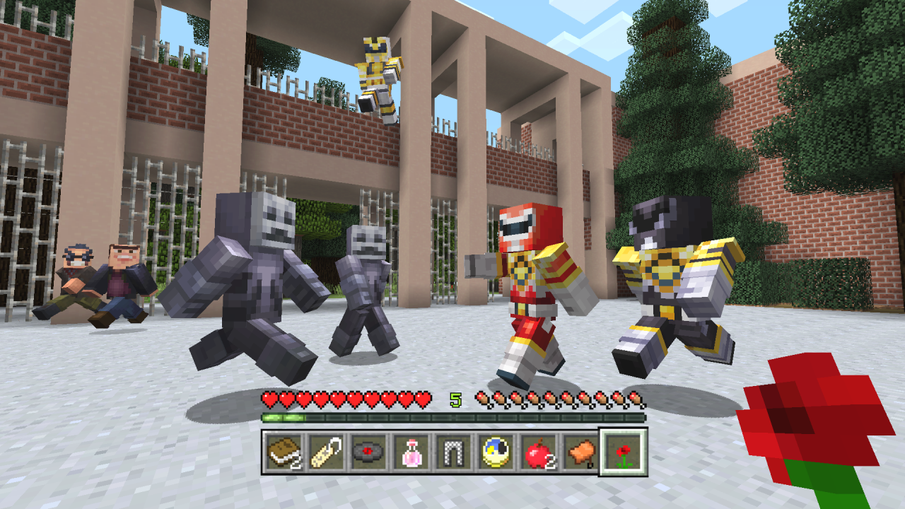 Minecraft And Power Rangers Team Up With New Dlc 2