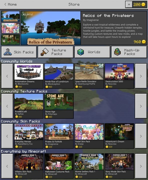 Microsoft Unveils Minecraft Marketplace With Discovery Update
