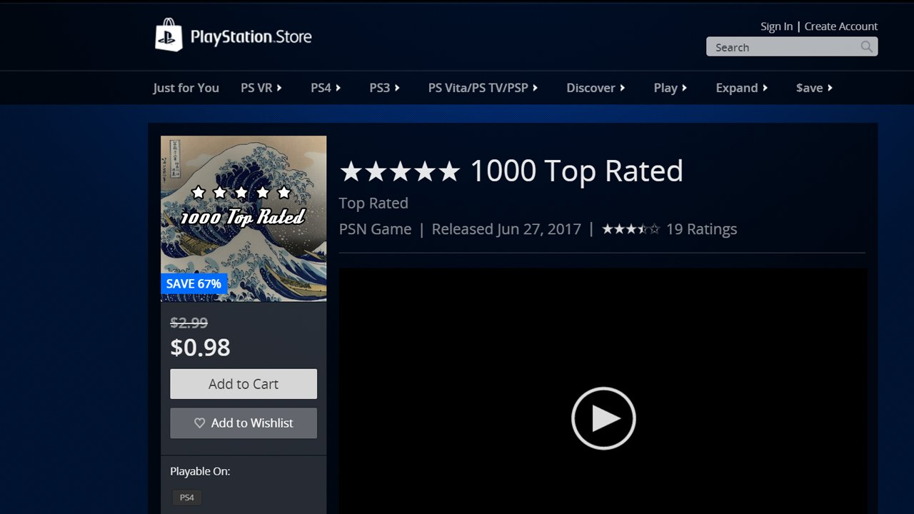 Sony Removes Easy Platinum Trophy Game From The PlayStation Network