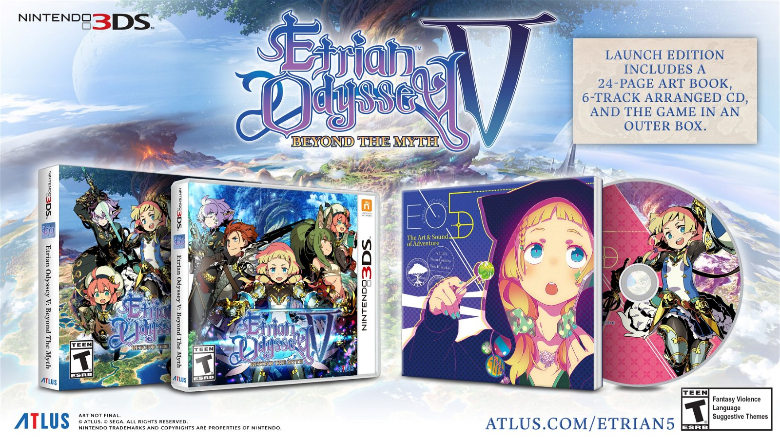 Etrian Odyssey V: Beyond the Myth Releases October 17 2017