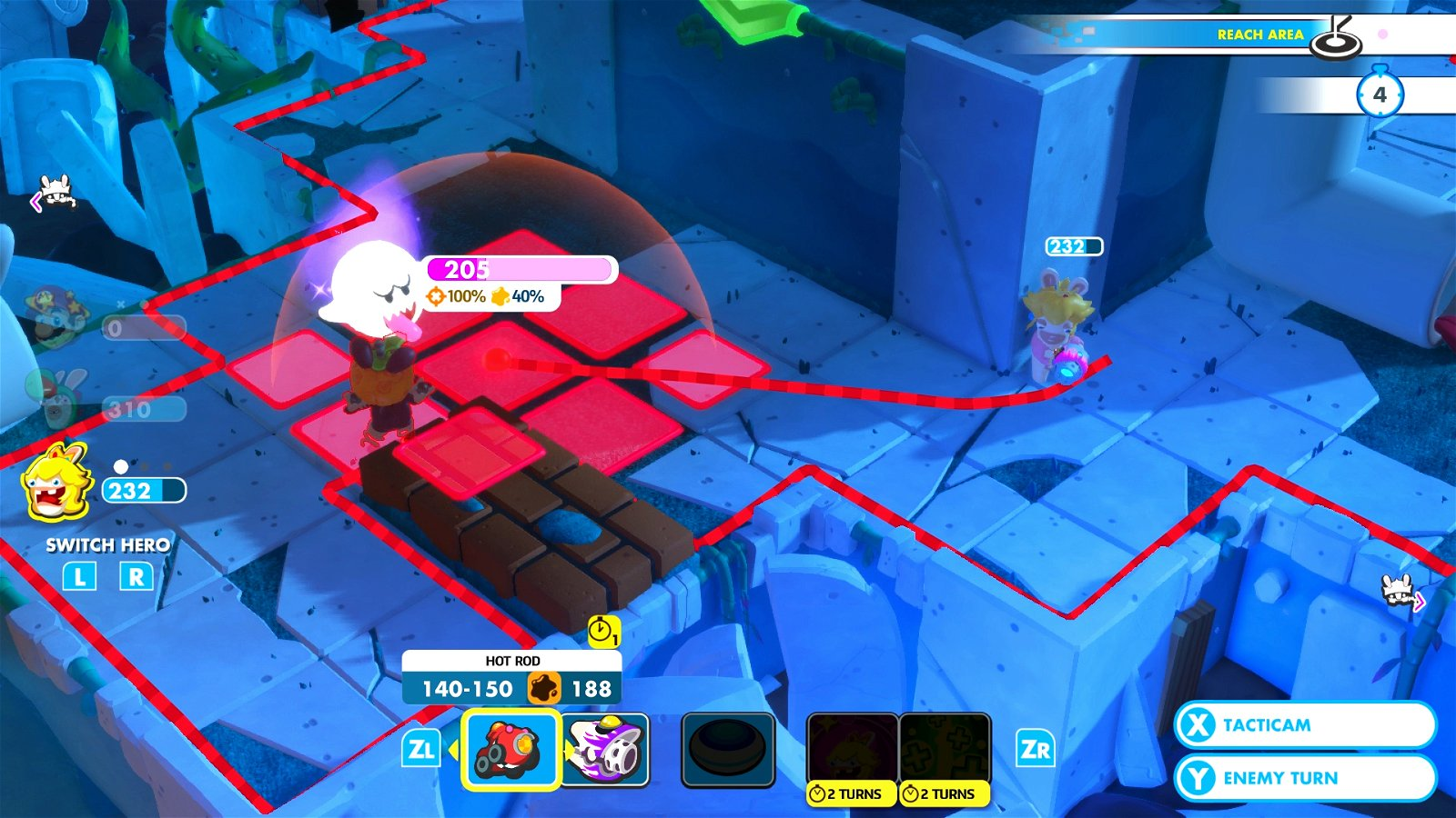 Mario + Rabbids: Kingdom Battle (Switch) Review: Engrossing Tactics & Gross-Out Humor 4