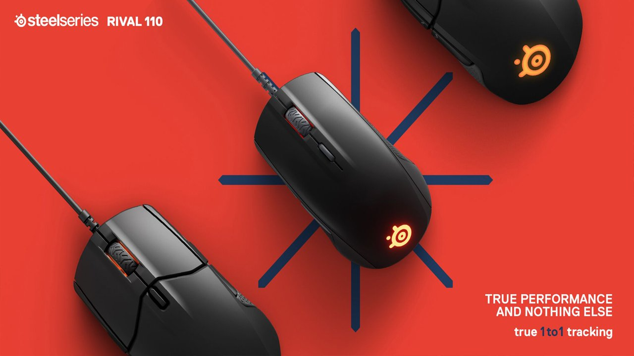SteelSeries Unveils New Rival 110 Mouse With TrueMove1 Sensor