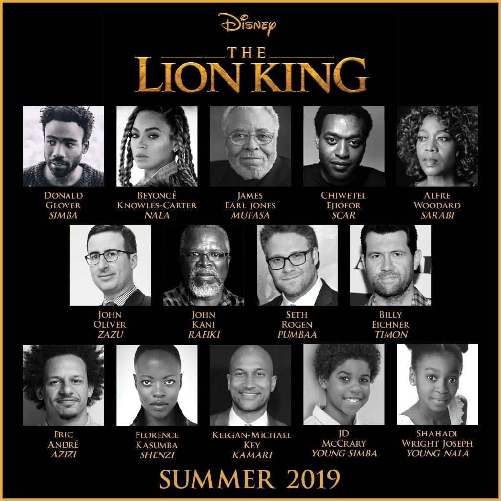 Disney Announces Cast For The Lion King