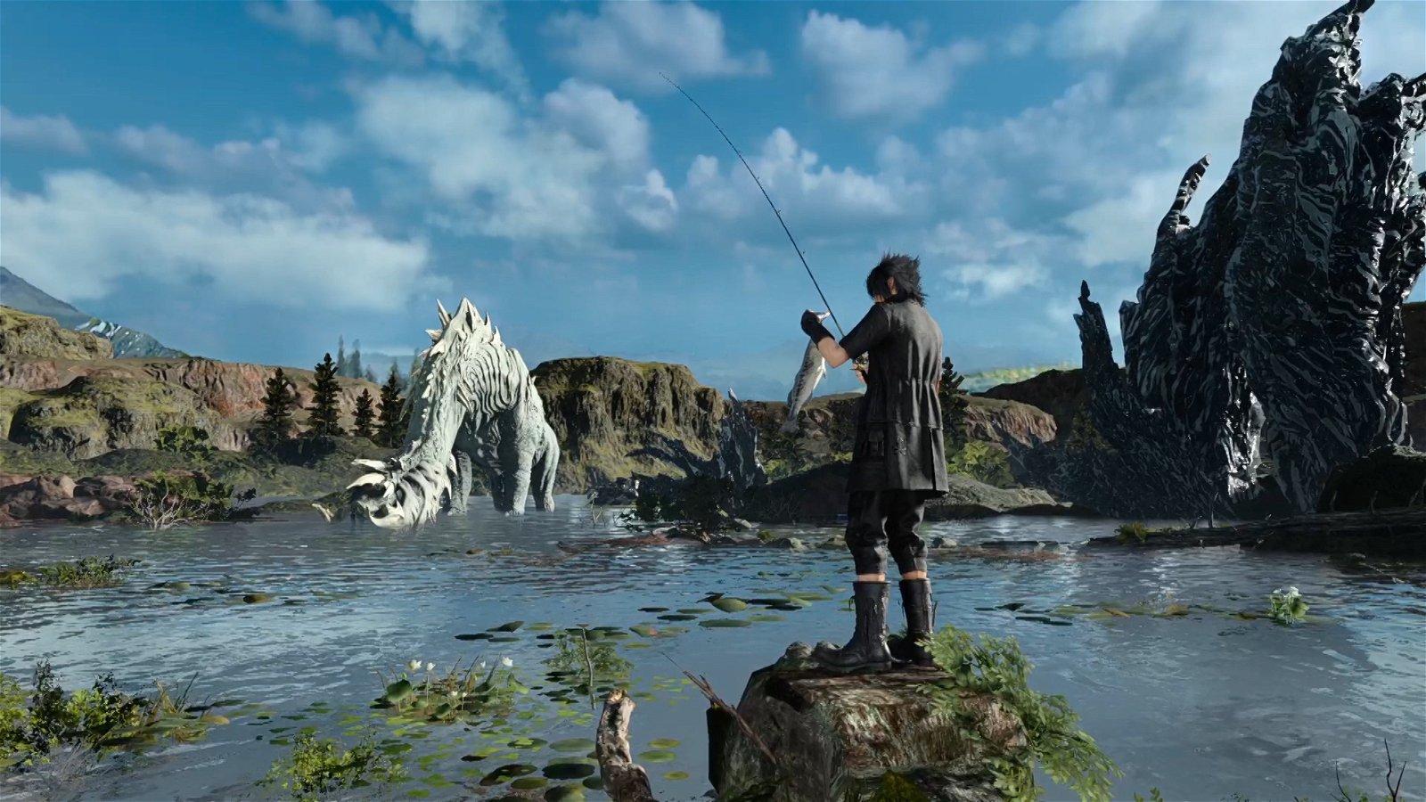 Monster of the Deep: Final Fantasy XV (PSVR) Review: Not-So-Deep Fishing Sim 1