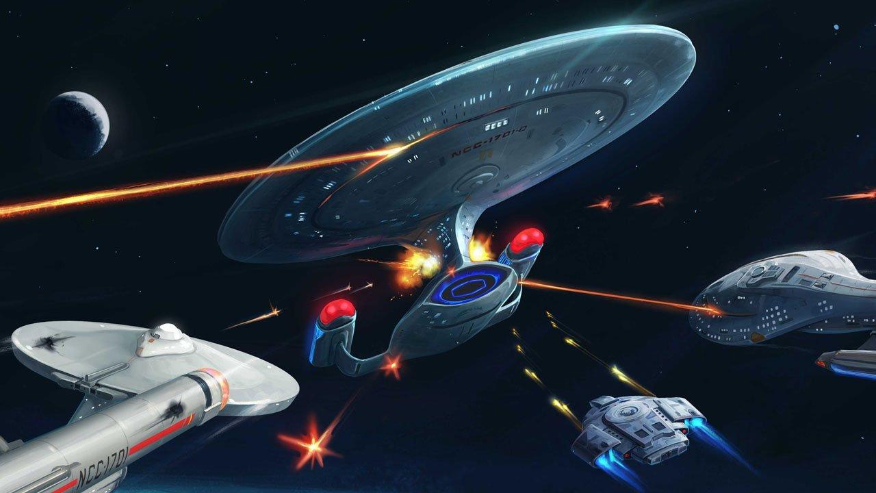 Battles in Vacuum: Galactica vs. Enterprise-D 1