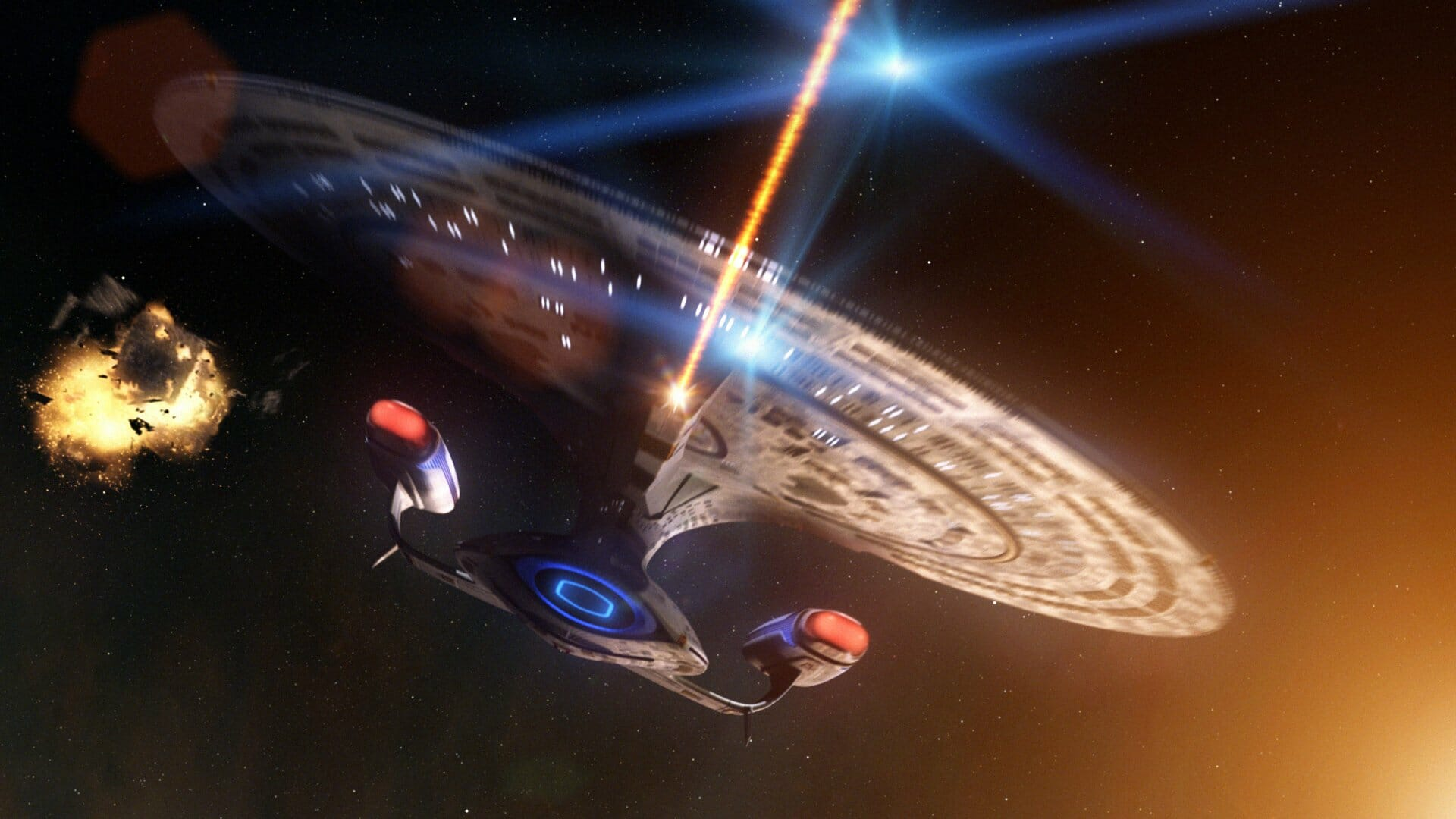 Battles in Vacuum: Galactica vs. Enterprise-D
