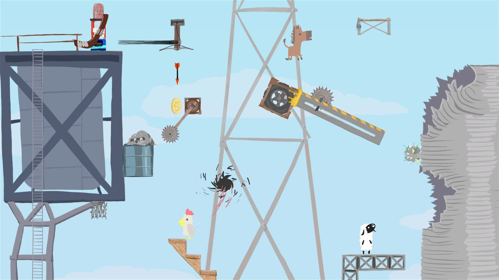 Ultimate Chicken Horse (PS4) Review: Frenetic Multiplayer Craziness! 1