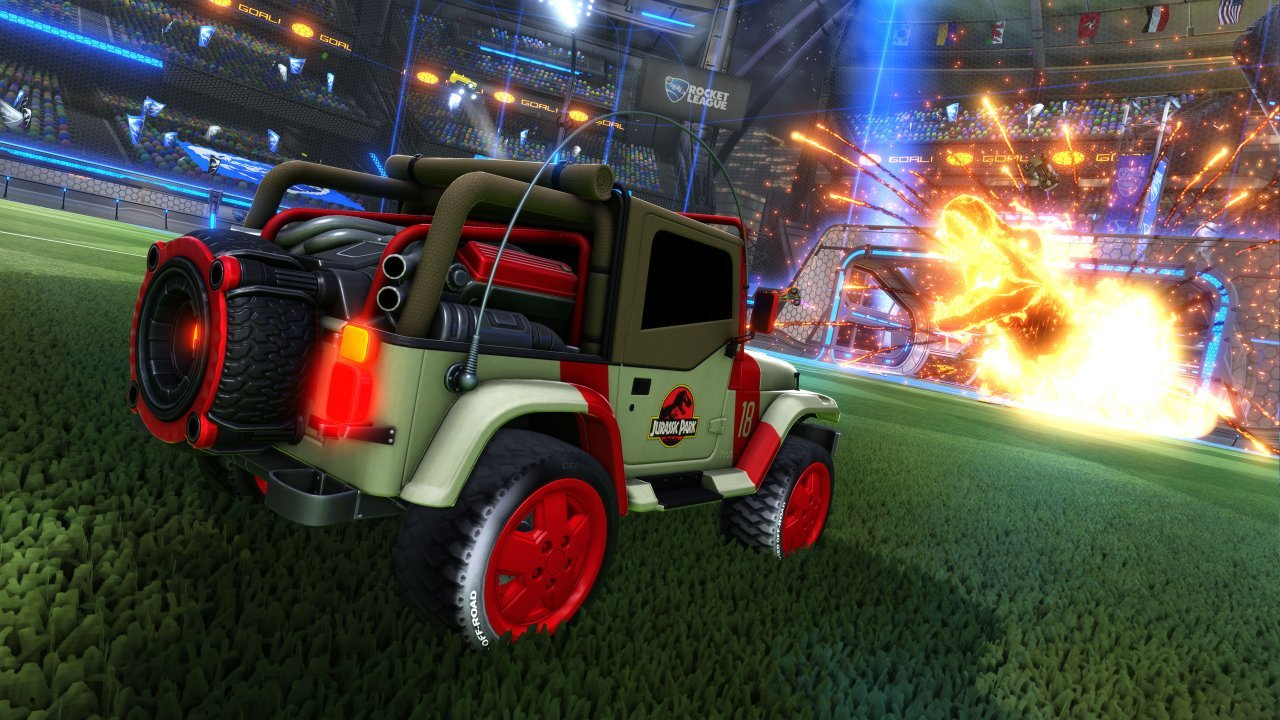 Dino-Mite Jurassic World: Fallen Kingdom DLC comes to Rocket League 1