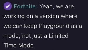 Epic Teases Fans With Plans Of Permanently Adding Playground Mode to Fortnite