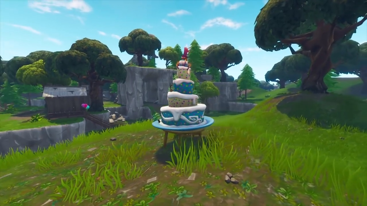 Fortnite Guide:  Where to Find Season 5 Anniversary Event Birthday Cake Locations 1