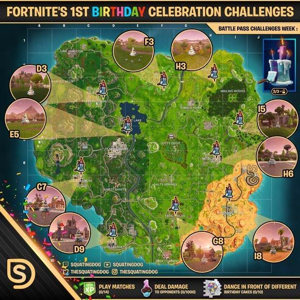 Fortnite Season 5 Anniversary Event Challenge Guide
