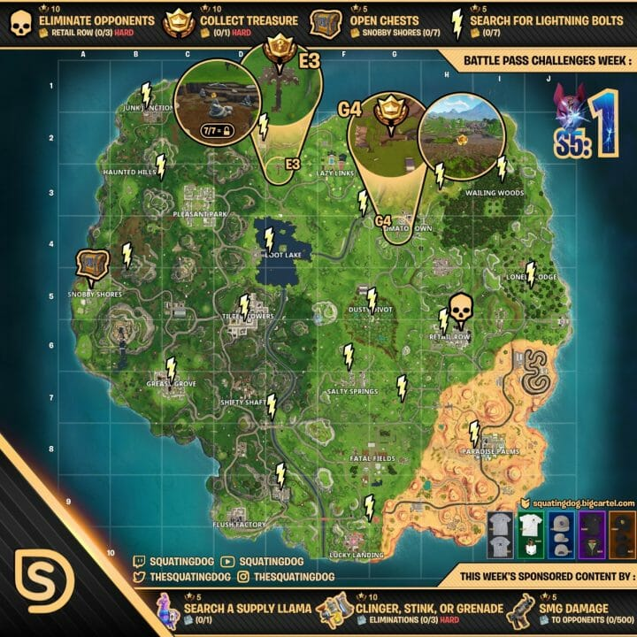 Fortnite Season 5, Week 1 Lightning Bolt Collectibles Guide 1