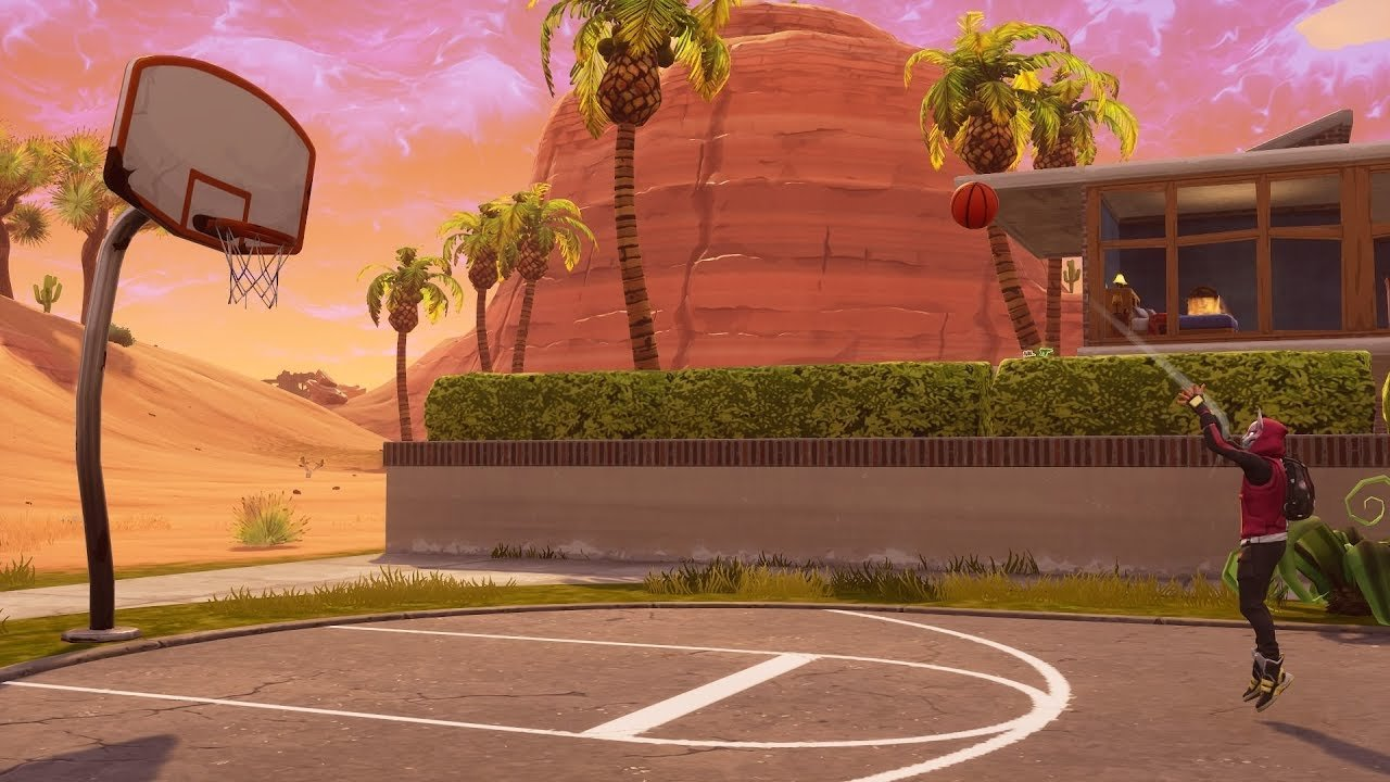 Fortnite Week 2 Season 5 Basketball Court Location Map