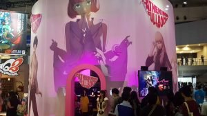 Catherine: Full Body at Sega's Tokyo Game Show 2018 booth