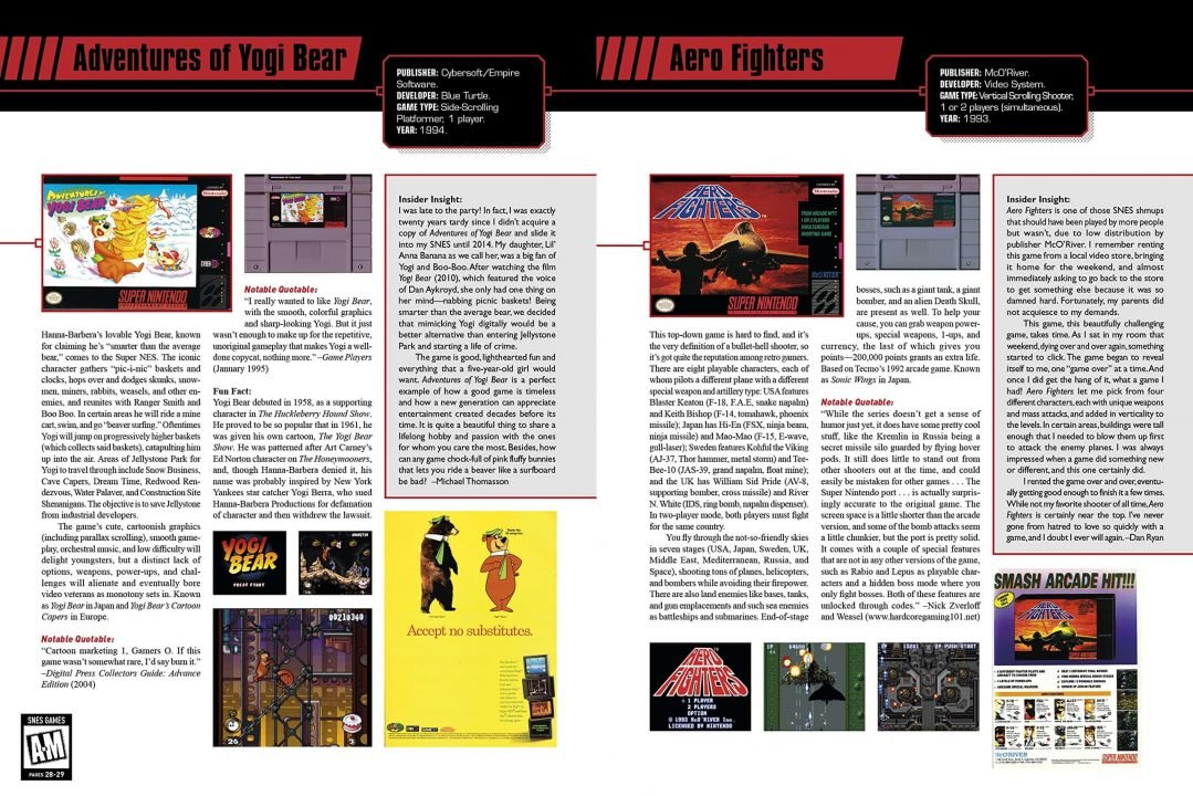 The SNES Omninbus: The Super Nintendo and Its Games, Vol 1 (A-M) Review 1