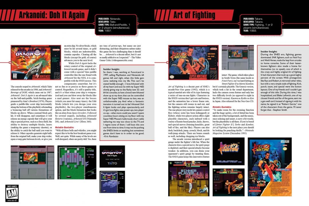 The SNES Omninbus: The Super Nintendo and Its Games, Vol 1 (A-M) Review 3