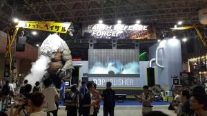 Earth Defense Force: Iron Rain comes to TGS with a smoke breathing statue.