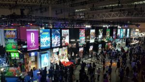 Heading into the Show Hall, the first booth you'll be greeted by is Sega's.