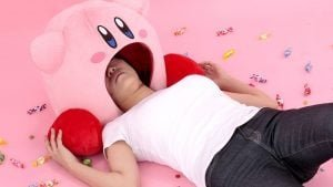 "BANDAI SPIRITS: You Too Can Find out ""What Would Happen If Kirby Inheld You In..."" with This 38 cm Tall Plushy! 5"