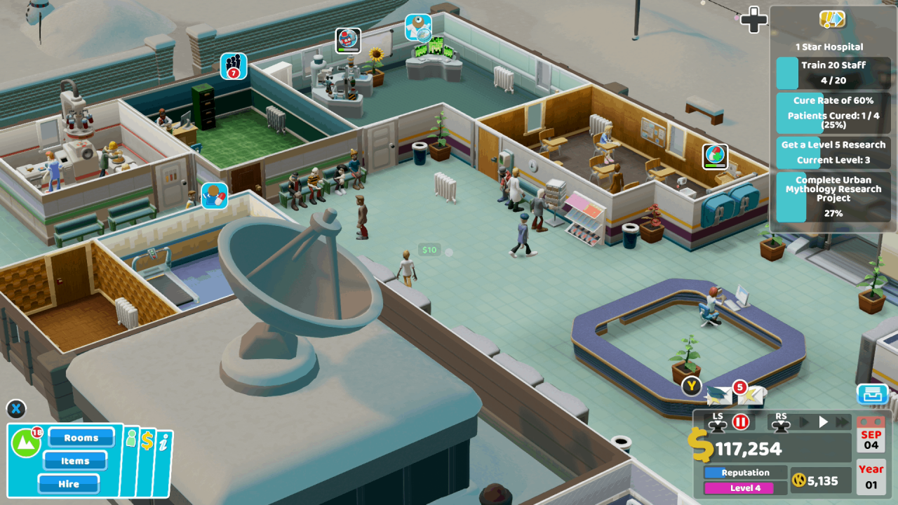 Two Point Hospital Console Review 1