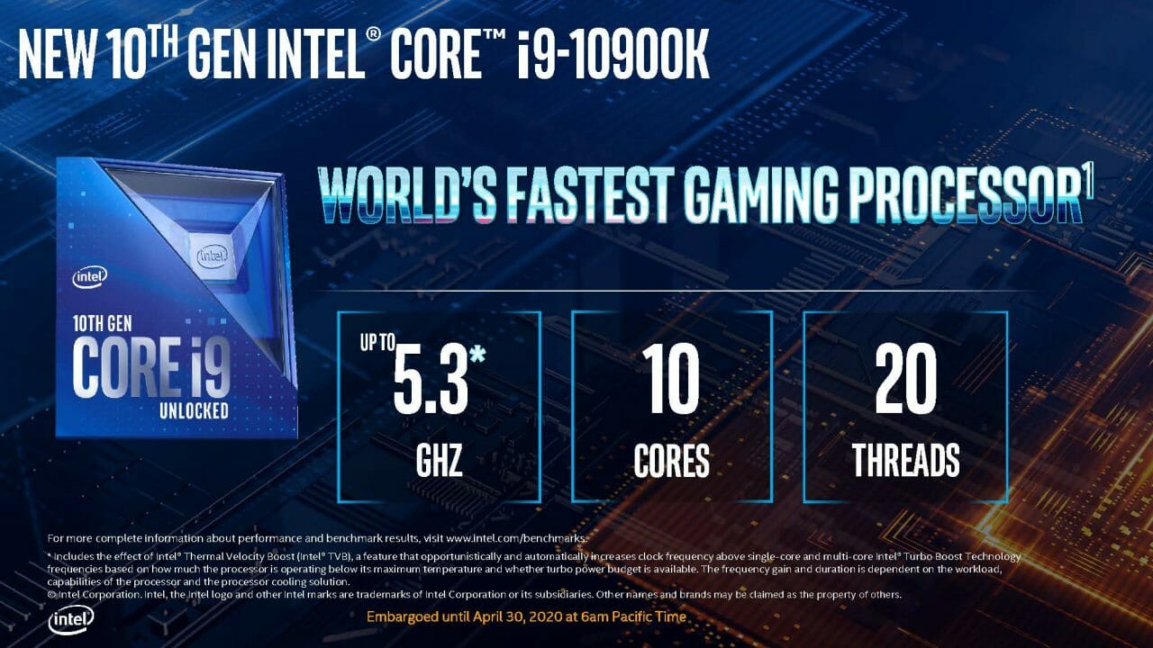 Intel Comet Lake-S 10Th Gen Desktop Cpu Lineup Set To Take On Ryzen Head On 3