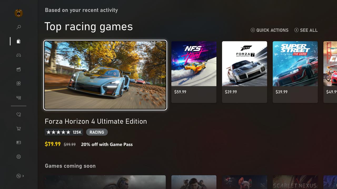 Xbox Series X Home Menu And Store Ui Revealed 14