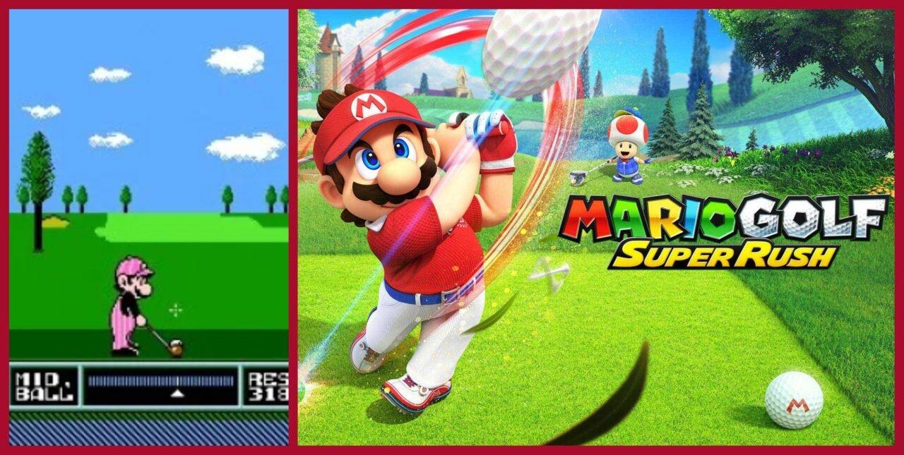 Nes Open Tournament Golf Vs Mario Golf: Super Rush