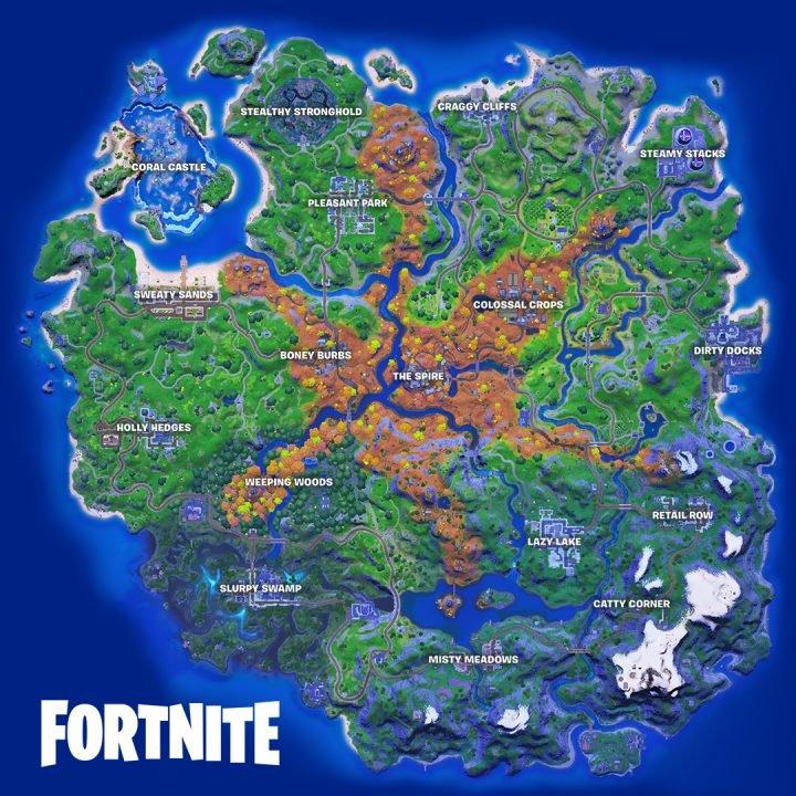 Fortnite Chapter 2 Season 6 Map