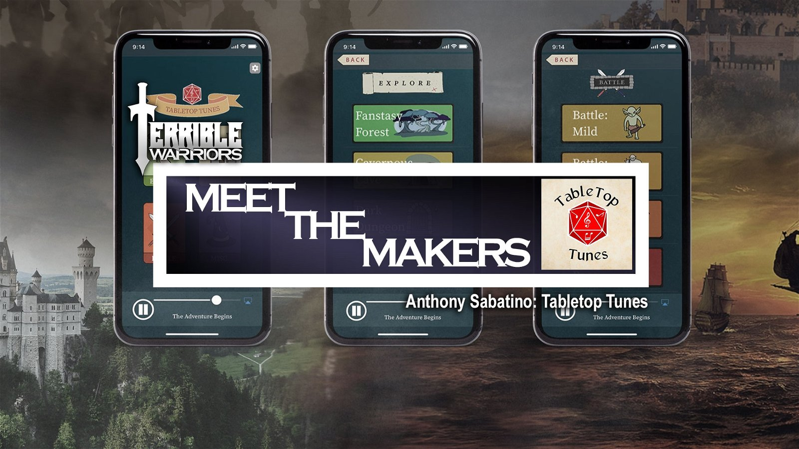 Terrible Warriors - Meet The Makers: Anthony Sabatino (Tabletop Tunes)