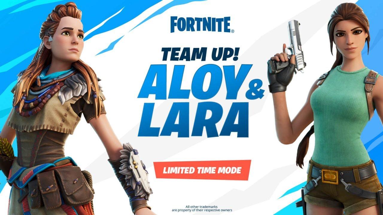 Horizon Zero Dawn &Amp; Tomb Raider Invade Fortnite With Team Up! Aloy &Amp; Lara Limited Time Mode.