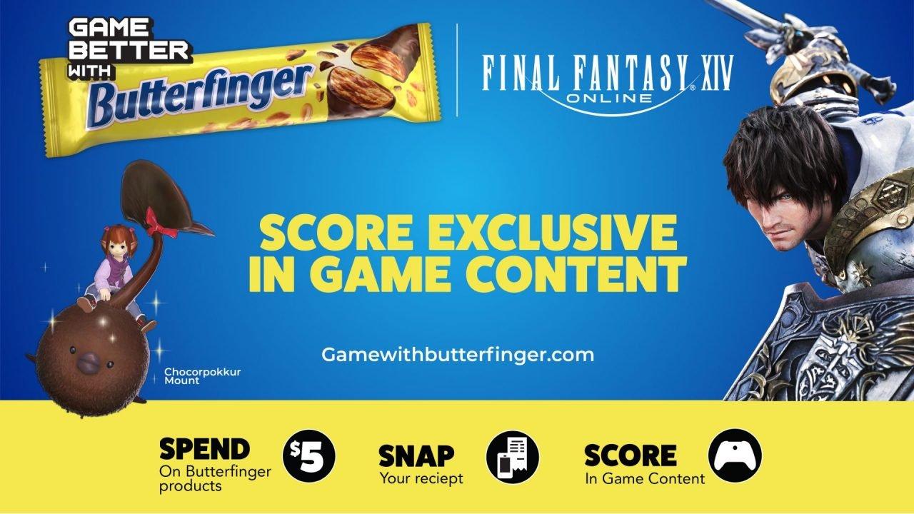 Final Fantasy 14 Butterfingers Promo