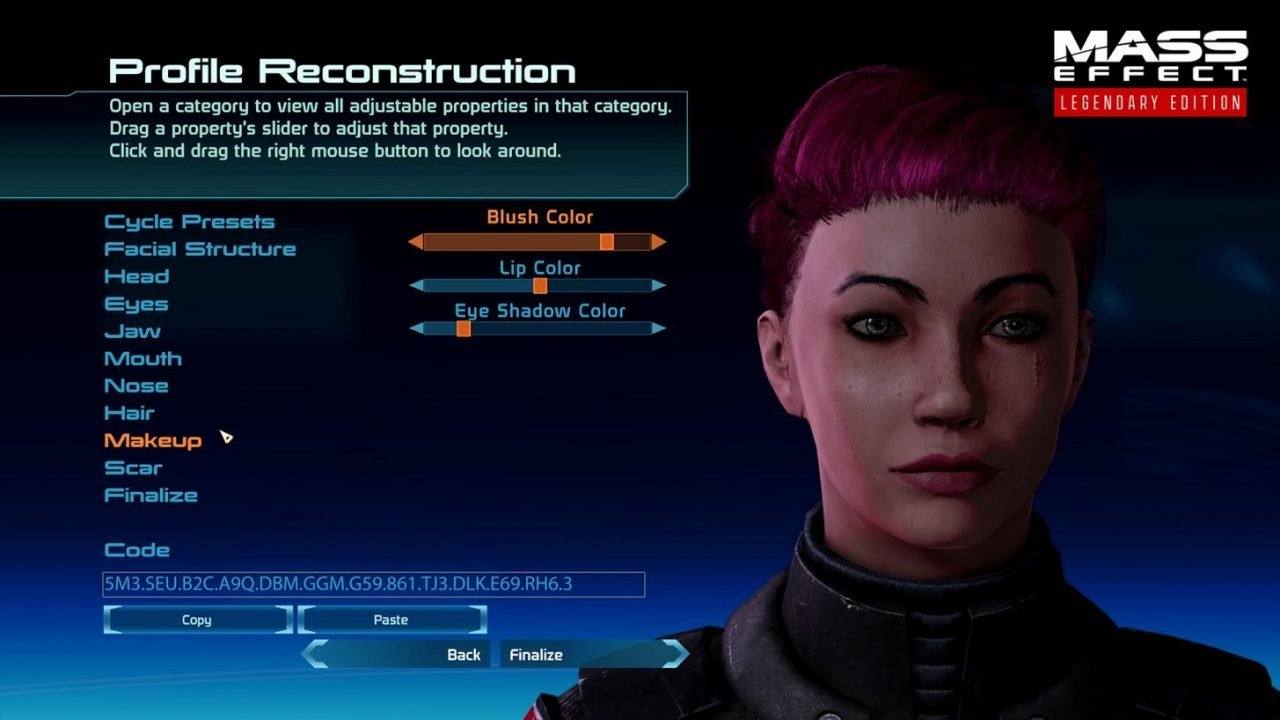 Commander Shepard'S Appearance Options Have Been Expanded, And Can Be Carried Across Games With Ease.